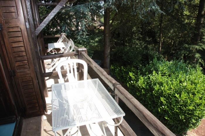 Chambre avec balcon vue sur le parc et la nature
