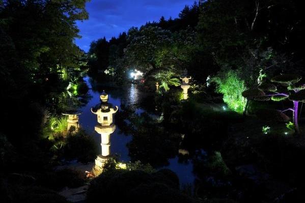 Le Parc Oriental de Maulévrier en nocturne