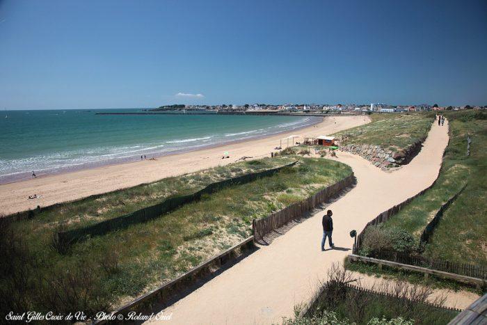 Grande plage et dune saint gilles croix de vie